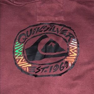 Burgundy Boy's Large Quicksilver Hoodie